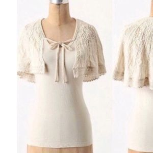 Anthropologie top by Deletta with attached cape